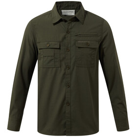 Craghoppers Adventure Trek Long Sleeved Shirt Barn Dark Khaki